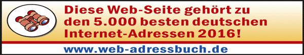 Auszeichnung Webadressbuch 2016