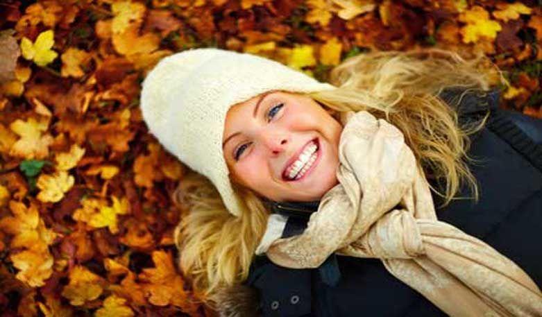 Gesund und erholt durch den Herbst